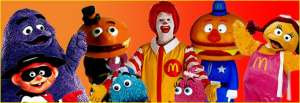 Ronald McDonald, Flanked by his henchmen